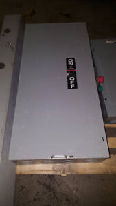 Heavy Duty GE 600v 400 amp 350 HP Non Fusible Disconect Switch Windsor Region Ontario image 1