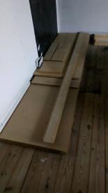 Woodchip flooring boards,