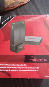 Rocketfish Wireless rear speaker setup