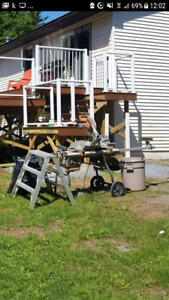 """12"""" miter saw with stand."""