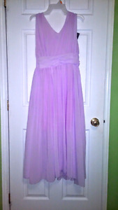 Long Purple chiffon dress