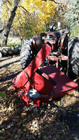 Farmall tractor with snow blower and loader