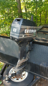 12' Thornes car topper with 8hp Evinrude 2 stroke