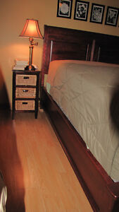 DURHAM SOLID MAPLE QUEEN SLEIGH EURO BED Cornwall Ontario image 2
