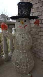 4 Ft Lighted Snowman