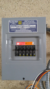 30 D Square Amp Breakers, Panel and wires