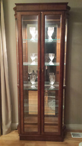 Glass & Wood  Display Cabinet