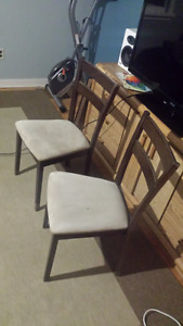 Suede wooden matching chairs