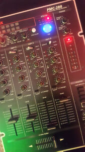 Vestax PMC280 Professional Analog DJ mixer w. digital effects