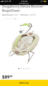 Fisher-price My Little Snugabunny Bouncer Baby Seat $50.00 firm