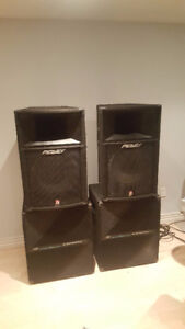 Complete 1200W PA System (Yorkville/Peavey) for band