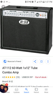 B52 at-112 60watt 1x12 tube combo amp