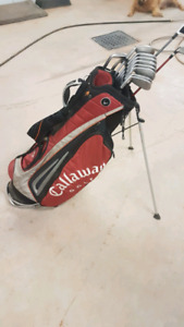 Taylor Made irons, driver, 3 wd, wedges, and bag