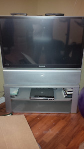 """Samsung 50"""" projection TV with stand - FREE to a good home"""