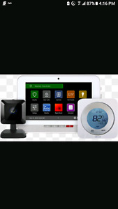 Rogers camera ×2 and smart wifi light bulbs aswell as the tablet