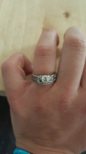 Past, Present, Future Wedding and engagement rings