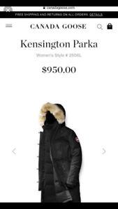 Canada Goose Kensington Black Jacket Size Small