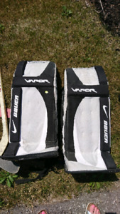 Hockey pads and gloves