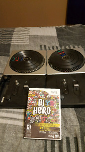 Dj hero with 2 turntables