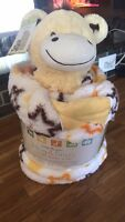 Little Miracles Sherpa Baby Blanket and Toy