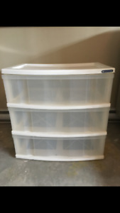 For Sale: Large Plastic 3 Drawer Storage