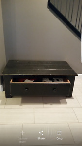 Coffee table with full size drawer