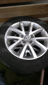 Volkswagen set of  4 rims and tires 205 55 R16