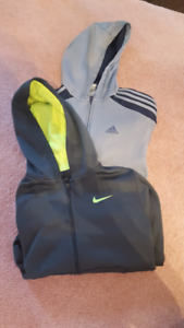 Boys Nike and Adidas hooded sweaters