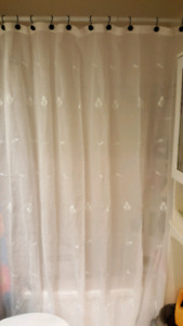 Curtains and Shower Curtain