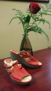 """Red""  Fly London Sandals"