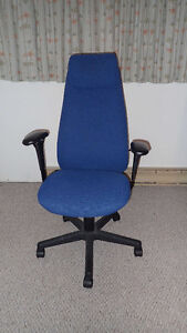 Ergonomic high backed office chair