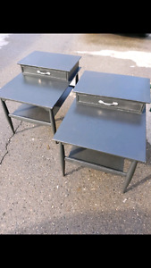 2 black side tables