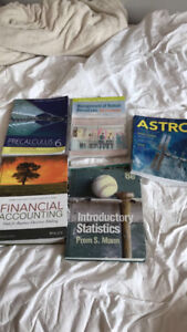 Various different textbooks for sale accounting, stats, business