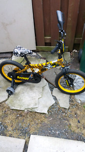 "12"" Batman themed child's bicycle"