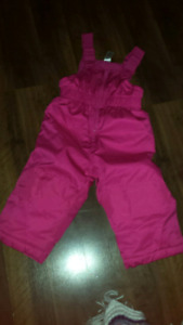 Baby girls size 12 to 18 months snow pants