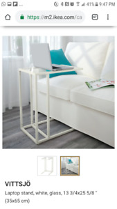 IKEA Vittsjo laptop stand, side end table, white