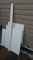 White MDF Shelf Board Pieces