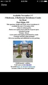 *Port Elgin* 3 bedroom townhouse