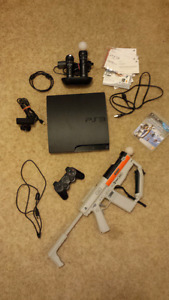PS3 Slim 320G with Double Dual Move Controllers & Accessories