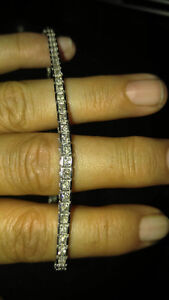 10k white gold & diamond tennis bracelet