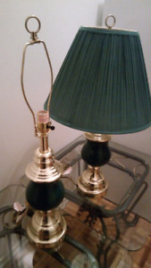 Pair of Tables & Table Lamps
