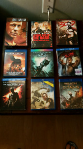 Multiple DVDs and Blurays
