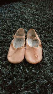 Leather Ballet Slippers Size 4