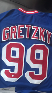 Gretzky NYR pro adidas Autographed jersey