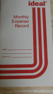 TRAVELLER'S EXPENSE BOOKLETS WEEKLY AND MONTHLY