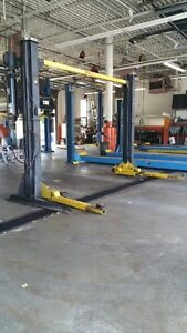share 2 bays with Hoists and compresore out of a 7 bay auto shop