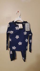 Toronto Maple leafs pajamas toddler size 2/3