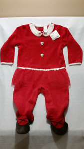 Baby Girl Footed Onesie Outfit Sleeper & TuTu  6-12mts NewTags