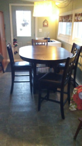 Dark Brown Dining Table Set