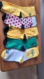 Bicycle tour socks.